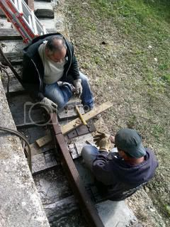steve & mike e bolting ring rail together
