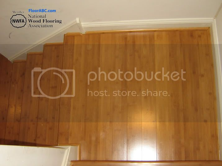Hard wood flooring steps