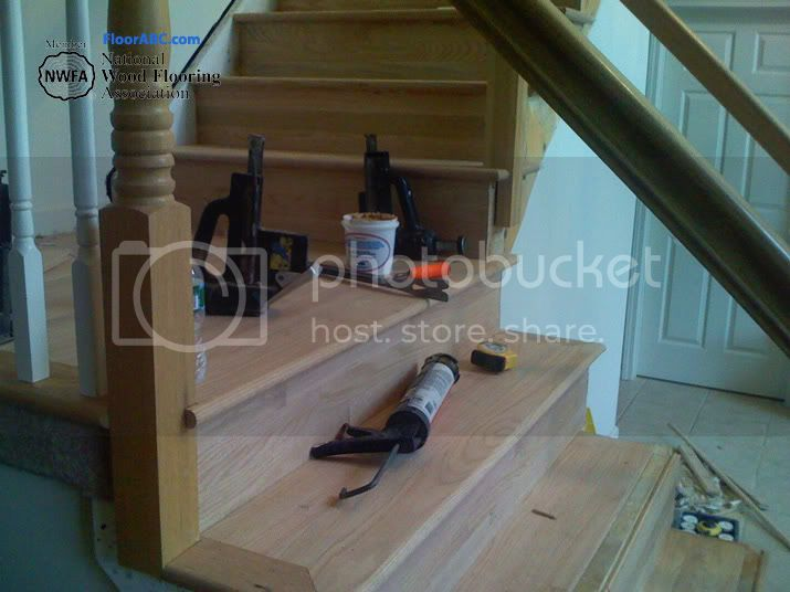 wood floor steps