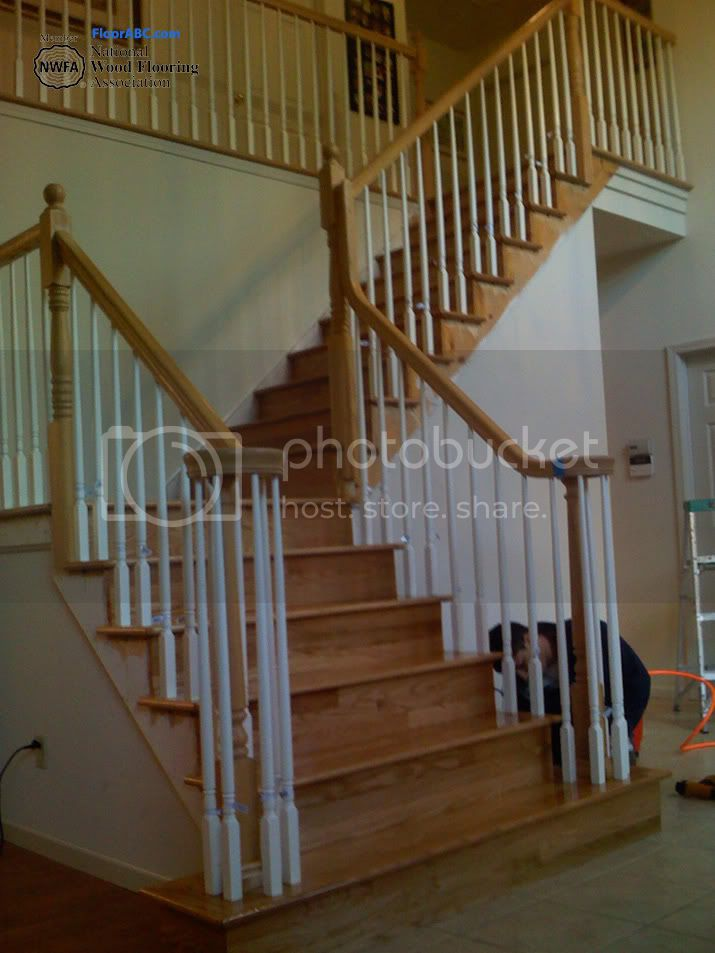 engineered flooring steps