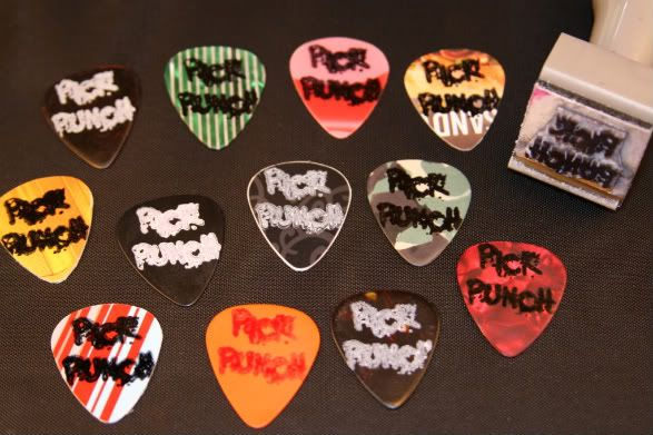 custom,stamped,picks,guitar,make your own,pickpunch,pick,custom printed
