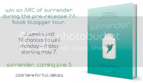 bookbloggertour Book Review: Surrender by Elana Johnson